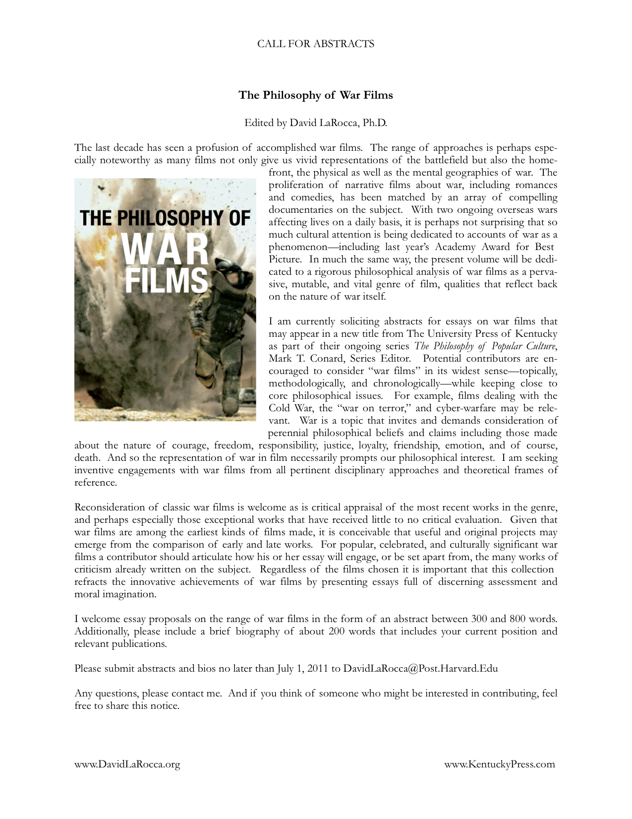 cfp essay collection on ldquo the philosophy of war films cfp essay collection on ldquothe philosophy of war filmsrdquo