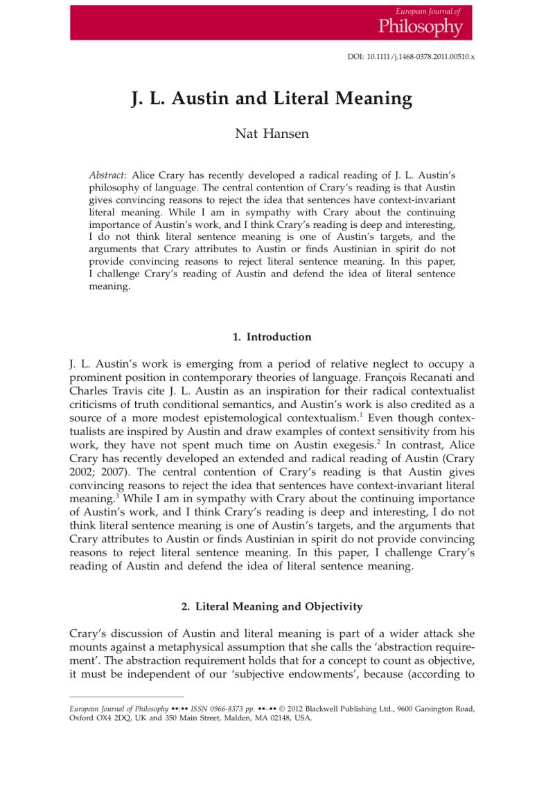 epistemological contextualism essay